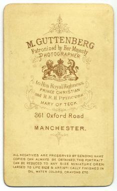 Marcus Guttenberg carte de visite photograph 24 (verso)