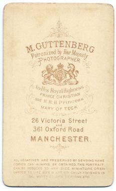 Marcus Guttenberg carte de visite photograph 25 (verso)
