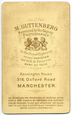 Marcus Guttenberg carte de visite photograph 26.1 (verso)