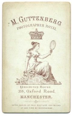 Marcus Guttenberg carte de visite photograph 29 (verso)
