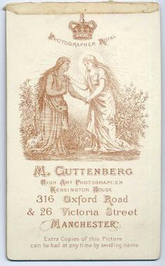 Marcus Guttenberg carte de visite photograph 30 (verso)