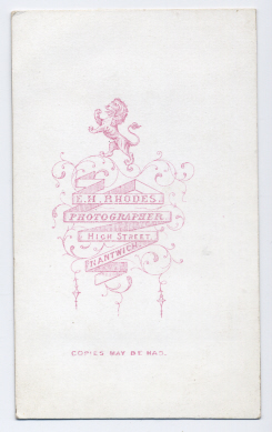 Edwin Herbert Rhodes carte de visite photograph 1 (verso)