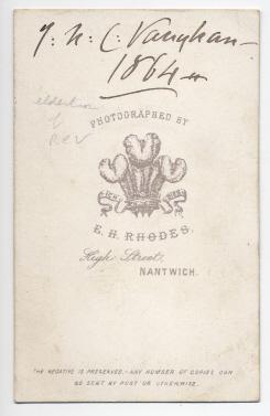 Edwin Herbert Rhodes carte de visite photograph 2 (verso)