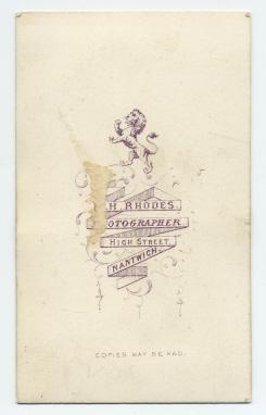 Edwin Herbert Rhodes carte de visite photograph 3 (verso)