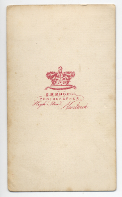 Edwin Herbert Rhodes carte de visite photograph 4 (verso)