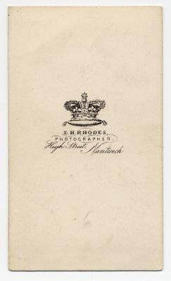 Edwin Herbert Rhodes carte de visite photograph 5 (verso)