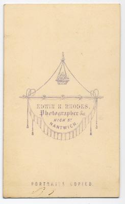 Edwin Herbert Rhodes carte de visite photograph 6 (verso)