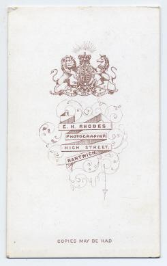 Edwin Herbert Rhodes carte de visite photograph 7 (verso)