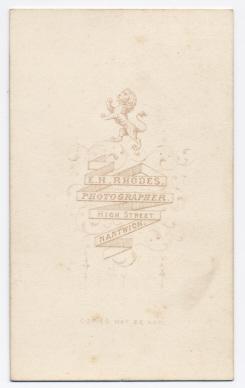 Edwin Herbert Rhodes carte de visite photograph 8 (verso)