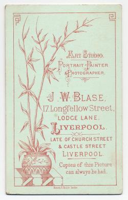 John Walker Thomas Blase carte de visite photograph 1 (verso)