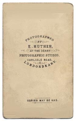 Edmund Joseph Huther carte de visite photograph 1 (verso)