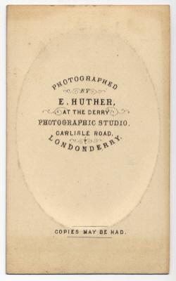 Edmund Joseph Huther carte de visite photograph 2 (verso)