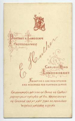 Edmund Joseph Huther carte de visite photograph 3 (verso)