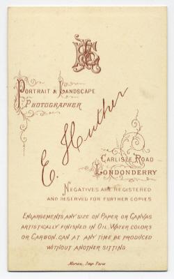 Edmund Joseph Huther carte de visite photograph 4 (verso)