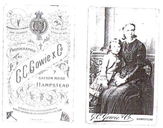 C G Gowie & Co carte de visite photograph 2  & C G Gowie & Co carte de visite photograph 2 (verso)
