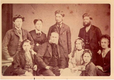 A photograph of Robert Cade and his family taken in 1870