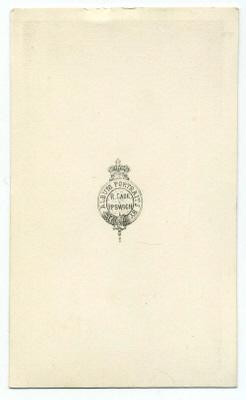 Robert Cade carte de visite photograph 3 (verso)