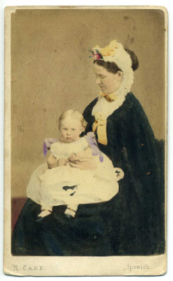 Robert Cade carte de visite photograph 5 coloured