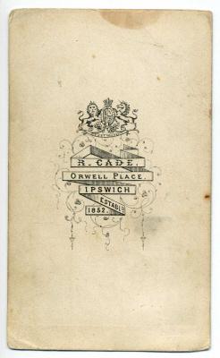 Robert Cade carte de visite photograph 5 coloured (verso)