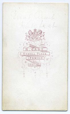 Robert Cade carte de visite photograph 7 coloured (verso)