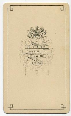 Robert Cade carte de visite photograph 8 (verso)