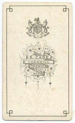 Robert Cade carte de visite photograph 10 (verso)