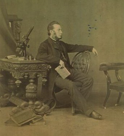 Self portrait of Robert Cade taken c 1864