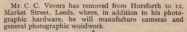 Vevers, C C removal PH World April 1889