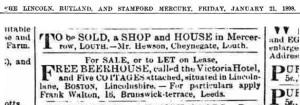 AAA Walton, Frank sells Victoria Hotel Boston 1898