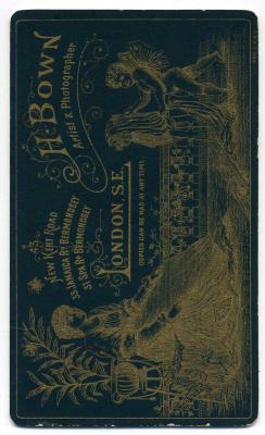 Henry Bown photograph 9 - carte de visite (verso)