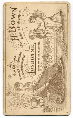 Henry Bown photograph 11 - carte de visite (verso)