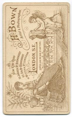 Henry Bown photograph 14 - carte de visite (verso)