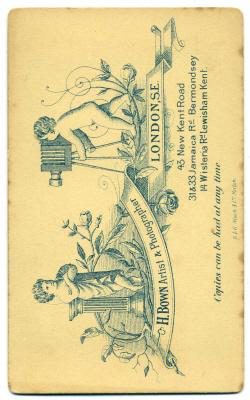 Henry Bown photograph 19 - carte de visite (verso)