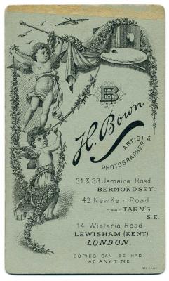 Henry Bown photograph 22 - carte de visite (verso)