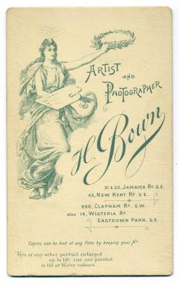 Henry Bown photograph 24 - carte de visite (verso)