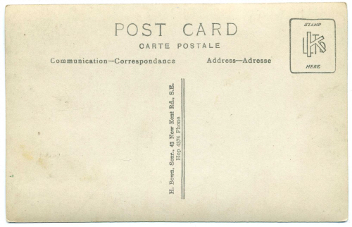 Henry Bown photograph 34 - postcard (verso)