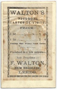 Frank Walton tintype -  photograph 16 (verso)