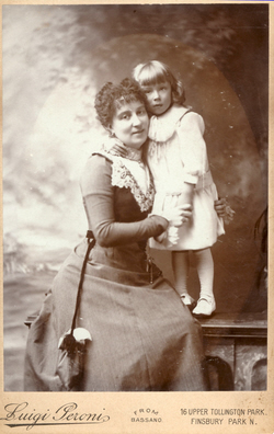 Luisina Rayna with Carlino Rayna taken about 1901