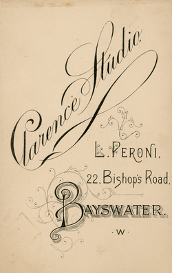 carte de visite Peroni Biography 13