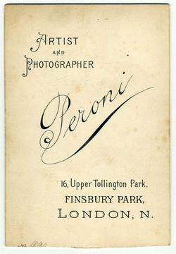 carte de visite Peroni Biography 16
