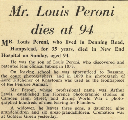 carte de visite Peroni Biography 28