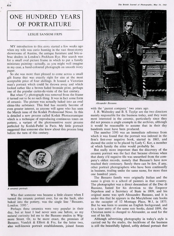 carte de visite Peroni Biography 42