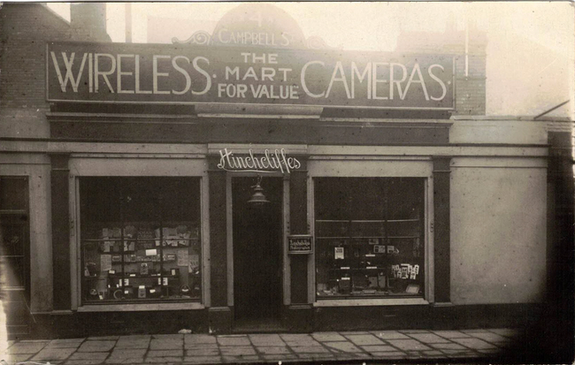Hinchcliffe's Wireless & Cameras shop 4 Campbell Street Leicester exterior