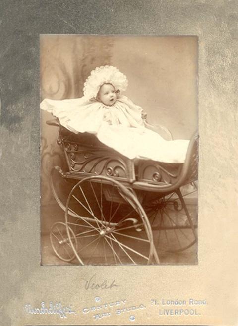 Violet taken at 71 London Road studio Liverpool between 1907 and 1910