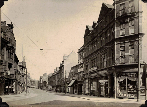 Hinchcliffe's Studio on 22 London Road Leicester 1920, cropped 96dpi
